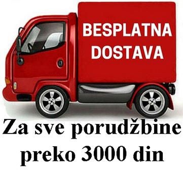 Besplatna isporuka za porudžbine preko 3000 din